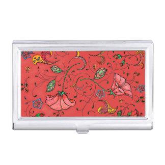 Original design floral vines business card holder