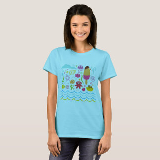 Original designers t-shirt with Sea creatures
