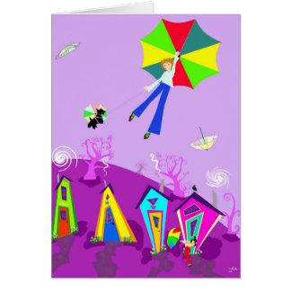 """Original Digital Art Card, """"In the Wind"""" Card"""