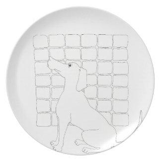 Original Dog Drawing Chinese Dog Year 2018 M Plate