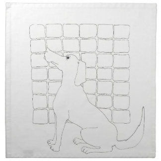 Original Dog Drawing Chinese Dog Year 2018 Napkin