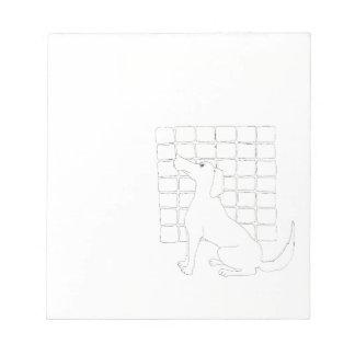 Original Dog Drawing Chinese Dog Year 2018 notepad