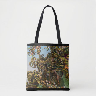 Original Dreamlike World Fractal 3D Tote Bag