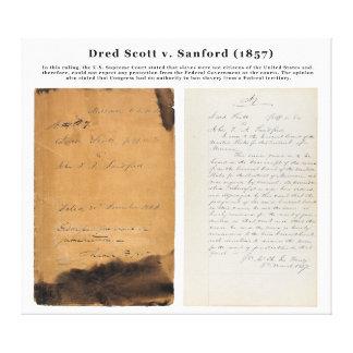 ORIGINAL Dred Scott v Sandford 1857 Canvas Print
