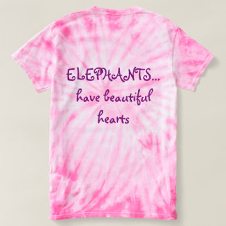 Original Ele-art on pink tye dye. T-Shirt