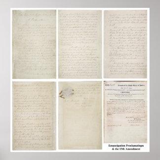 ORIGINAL Emancipation Proclamation 13th Amendment Poster