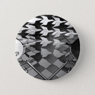 """Original famous draw """"day and night"""" 6 cm round badge"""