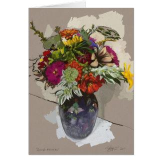 Original Fine Art Flower Card (Blank Inside)