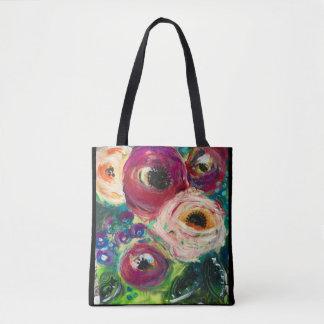 Original Floral Art Tote Bag by Sheryl Amburgey