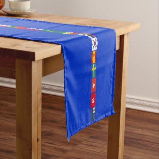 Original FOOTBALL SOCCER TEAM FLAGS 2018 pattern Short Table Runner