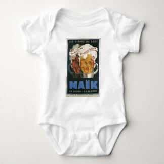 original French beer Art Deco Poster 1929 Baby Bodysuit