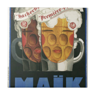 original French beer Art Deco Poster 1929 Ceramic Tile