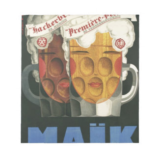 original French beer Art Deco Poster 1929 Notepad