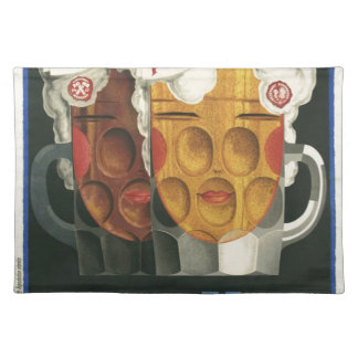 original French beer Art Deco Poster 1929 Placemat
