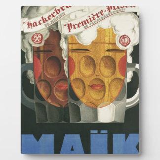 original French beer Art Deco Poster 1929 Plaque