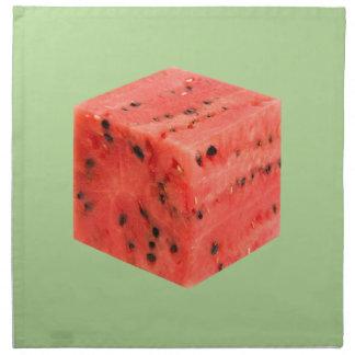 Original Fresh Sweet Red Watermelon Food Cube Napkin