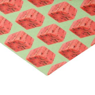 Original Fresh Sweet Red Watermelon Food Cube Tissue Paper