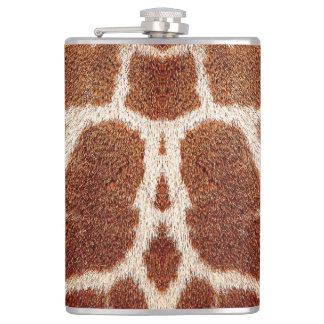 Original giraffe fur hip flask