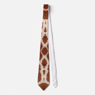 Original giraffe fur tie