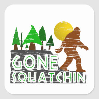 Original Gone Squatchin Design Square Sticker