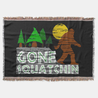 Original Gone Squatchin Design Throw Blanket