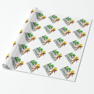 Original Gone Squatchin Design Wrapping Paper