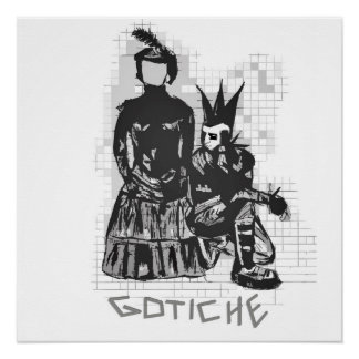 Original Gothic Punk Rock Hand drawn Poster