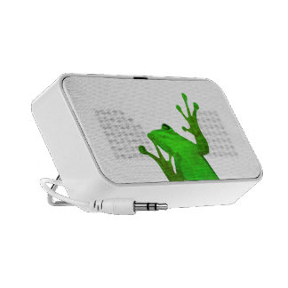 Original Green Frog White Doodle Portable Speaker