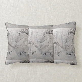 Original horse designed throw pillow