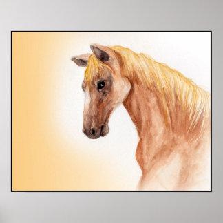 Original Horse Watercolor Painting Print
