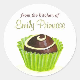 Original Illustration Chocolate Truffle stickers