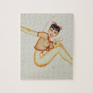 Original illustration for Esquire Pin Up Art Jigsaw Puzzle