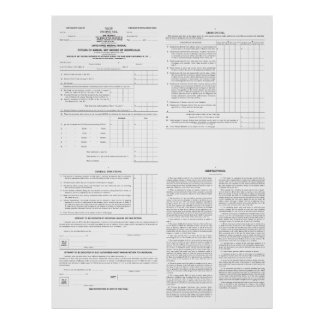 Original Income Tax Form 1040 from 1913 (4) Pages Print