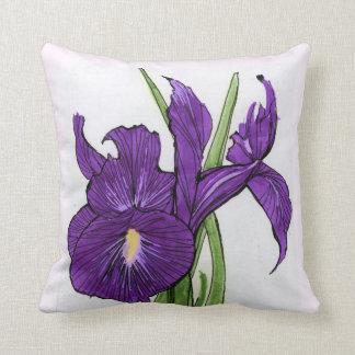 Original Iris Art Throw Pillow