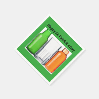 Original Irish beer flag: Happy St. Patrick´s Day, Disposable Serviette