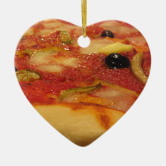 Original italian pizza ceramic heart decoration