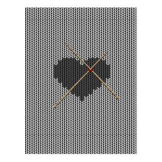 Original Knitted Heart Design Postcard