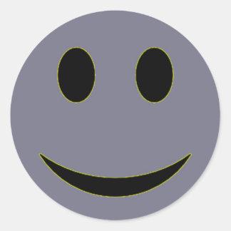 Original Lavender Smiley Face Round Sticker