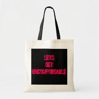 Original Lets Get Uncomfortable Tote bag