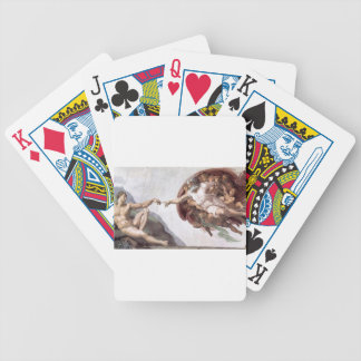 Original Michelangelo paint in sistin chapel Rome Bicycle Playing Cards