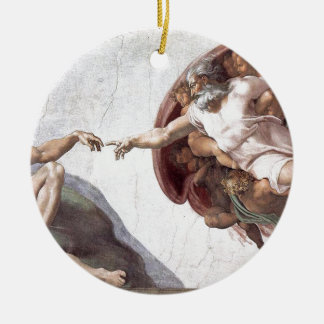 Original Michelangelo paint in sistin chapel Rome Ceramic Ornament