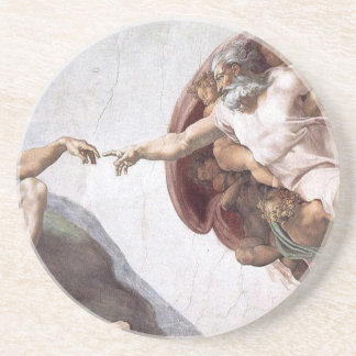 Original Michelangelo paint in sistin chapel Rome Coaster