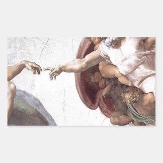 Original Michelangelo paint in sistin chapel Rome Rectangular Sticker
