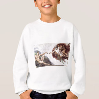 Original Michelangelo paint in sistin chapel Rome Sweatshirt