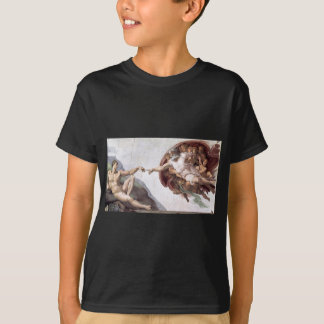Original Michelangelo paint in sistin chapel Rome T-Shirt