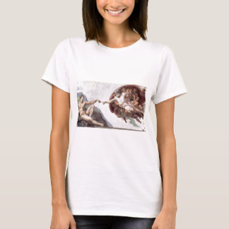 Original Michelangelo paint in sistin chapel Rome T-Shirt