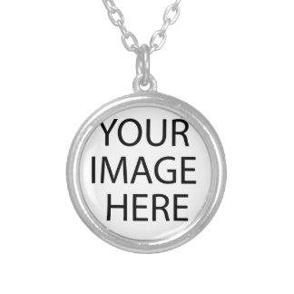Original oil painting round pendant necklace