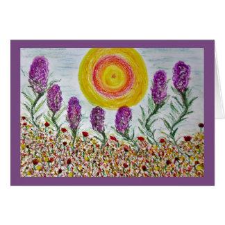 original oil & pastel drawing on paper card