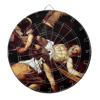 "Original paint ""La crocifissione di s Pietro"" Dartboard"