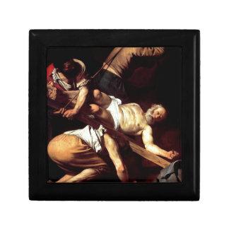 """Original paint """"La crocifissione di s Pietro"""" Gift Box"""